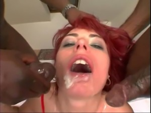 Dobule penetration session with horny chick Allison More