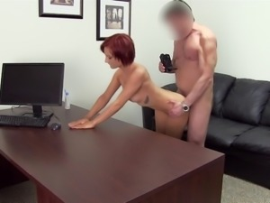 Redhead Sheehan toying her anal then smashed hardcore in reality casting