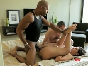 Wild huge breasted brunette wife Raylene fucks with BBC owner in front of hubby