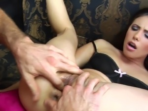 Casey Fingering her pussy then punished hardcore