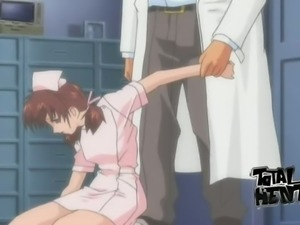 Blue eyed stunning nurse gets brutally fucked doggy by aroused doctor