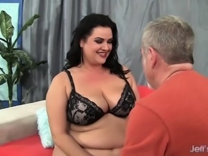 Super hot BBW seduces her fuck buddy and gives a sensual