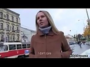 Cutie amateur european slut seduces tourist dor a street blowjob 35