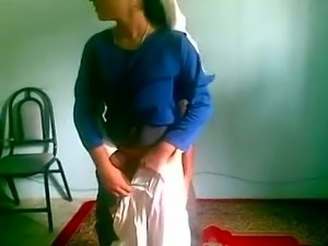 Kinky playful all natural and ugly Bengali village bitch gives blowjob
