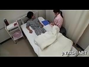 Nurse gets throat stuffed