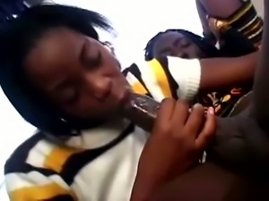 Luscious ebony cheerleader is getting a fat black cock