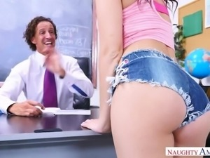 Ardent bootyful babe Brooke Haze doesn't mind being fucked in the office
