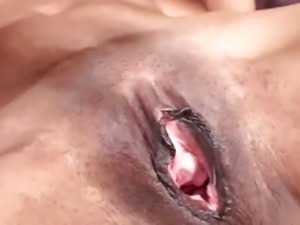 ethnic milf with small tits masturbates