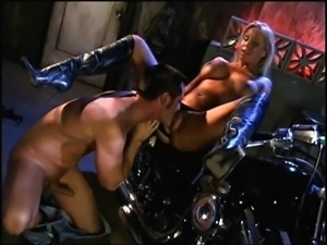 His wet tongue and hard rod feel so damn good in her slippery pussy