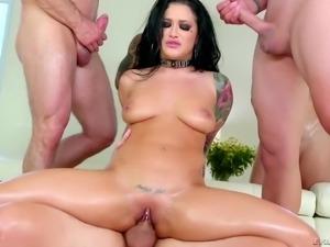 Katrina Jade fucked by a bunch of sex craving fellows