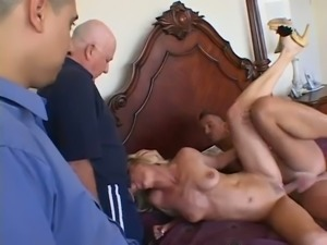 Blowjob and wild DP with such a spoiled blond haired hoe Tabatha