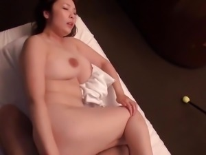 Hairy Japanese Milf with big boobs