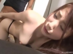 Hasegawa Rui's tight pussy ravished by a guy after a blowjob