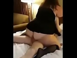 BBW MILF riding her Young Partner