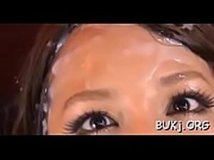 Japanese bukkake at home