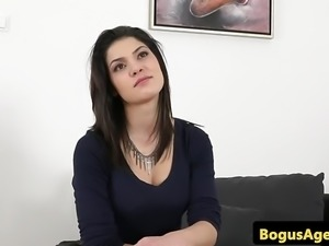 Busty euro amateur pussyfucks casting agent