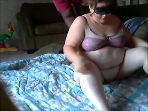 Extremely fat blond haired BBW with enormous tits sucks stiff cock