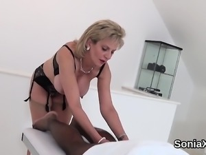 Adulterous british milf lady sonia shows her massive natural