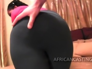 Black chick gives it her all in casting