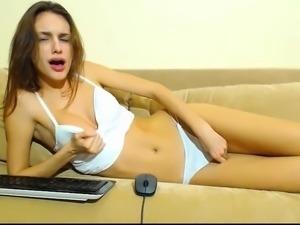 European blonde solo masturbating