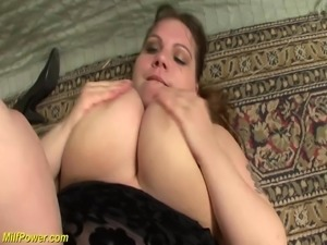 extreme fat bbw Milf enjoys her first big black dick deep inside her wet pussy