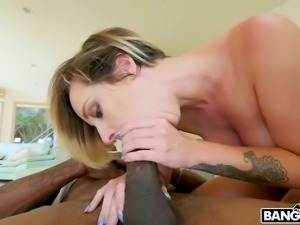 blonde hottie jada stevens rides and sucks the big black cock