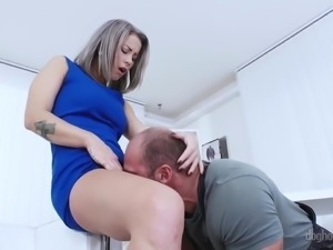 Pale but fervent Czech nympho Licky Lex desires to be fucked doggy