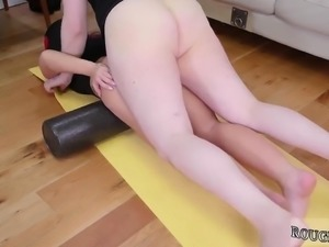 Cums hard in bondage fuck Ass-Slave Yoga