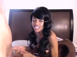 Beautiful ebony interracial pov amateur reality