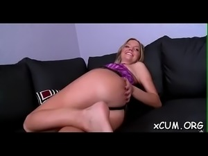 Girl takes a large pecker inside