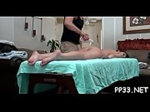 Massaging bawdy cleft