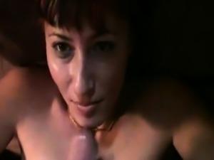 Horny slut gets her face creamed