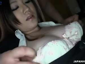 Depraved ordinary Japanese dude is busy with fucking cunt of Ritsuko Tachibana