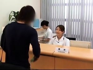 Naughty Asian nurses seize the chance to enjoy hard meat