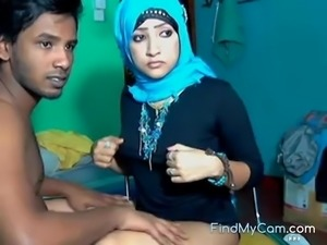 Sexy horny Muslim girl taboo sex on webcam
