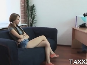 That babe comes for a casting and gets smashed highly hard