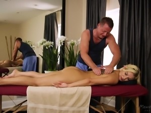 Kenzie Taylor receives a sensual rubdown and gets pounded rough
