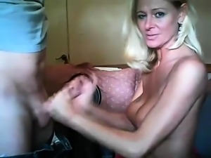 Stacked blonde mom reveals her love for cock on the webcam