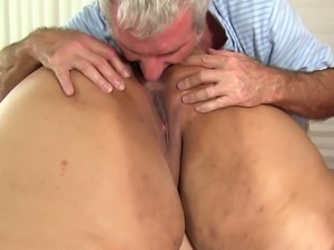 Just more than giant fatso Mia Riley lets dude massage her fat body and cunt