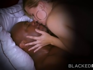 blonde curvy wife cheats with huge black rod