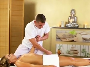 Young Russian babe fucked by masseur