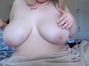 Cute big boobs bbw showing tiny pussy