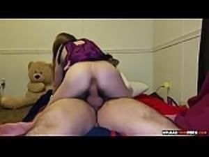 Teen girlfriend rides her mans cock to orgasm