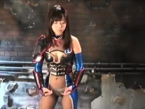 Kinky Japanese girl in a funny uniform needs to be pleased