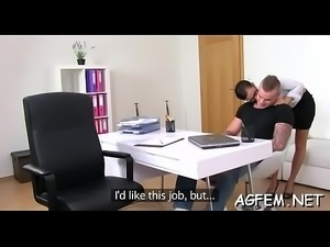 Female agent is willing for hard fuck