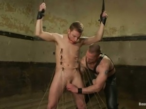 Bondage and Ass Fucking for Twink in Gay BDSM Porn Video