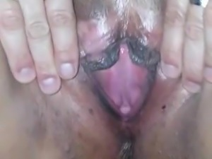 Big tit milf spreading pussy and gets fucked
