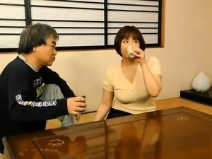 Japanese mature wife has a fiery cunt yearning for hard meat