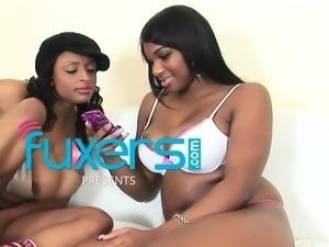 black sistas Taylor Layne and Carmen Hayes lesbian love