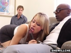 cheating milf cucks hubby with a big black cock